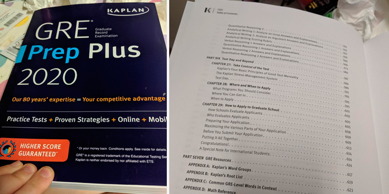 Kaplan Test Prep Plus 2020 GRE Prep in the use