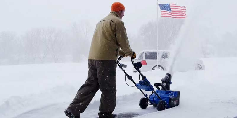 Snow Joe ION18SB Cordless Single Stage Brushless Snow Blower application