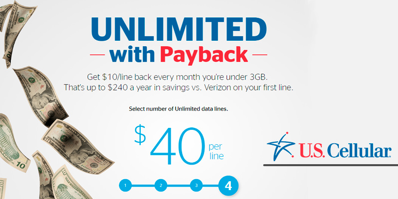 U.S. Cellular Cell Phone Plans: UNLIMITED with Payback in the use