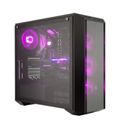 Cooler Master MasterBox Pro 5 (MCY-B5P2-KWGN-01) Mid-Tower PC Case, 3 RGB Fans 120mm Temper Glass Side Panel
