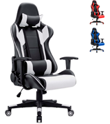 Homall Racing Style Gaming Chair (with Headrest and Lumbar Support)
