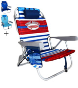Tommy Bahama SC539TB Backpack Beach Chair with Storage Pouch and Towel Bar