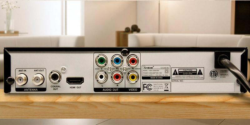 IVIEW 3500STBII Multi-Function Digital Converter Box in the use