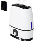Everlasting Comfort Ultrasonic Humidifier with Adjustable Knob and 360 Deg. Nozzles