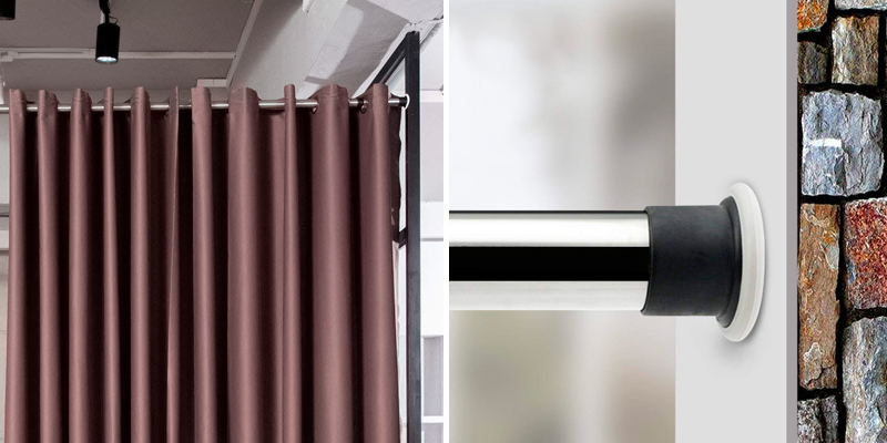 Review of ALLZONE Room Divider Tension Curtain Rod