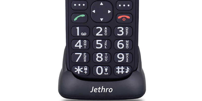 Jethro SC118 Simple Unlocked Quad-band GSM Senior & Kids Cell Phone in the use