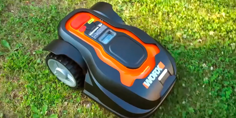 WORX WG794 Landroid Robotic Lawn Mower in the use