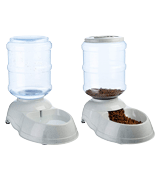 AmazonBasics Self-Dispensing Gravity Pet Feeder and Waterer
