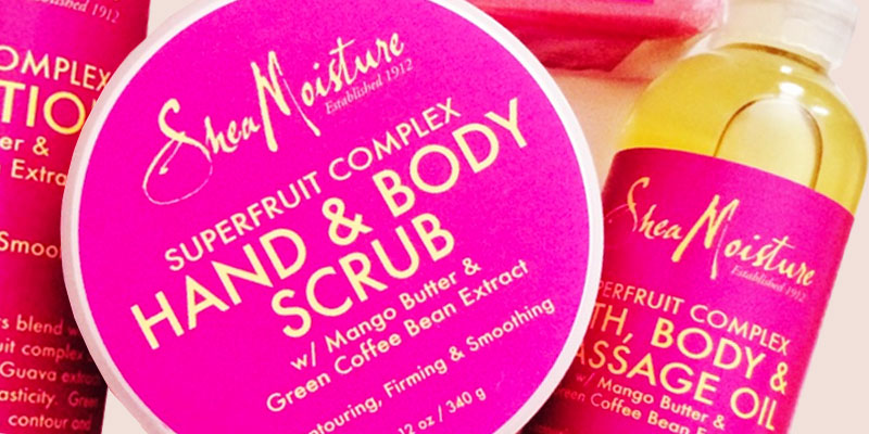Shea Moisture SuperFruit Complex Bath, Body & Massage Oil application