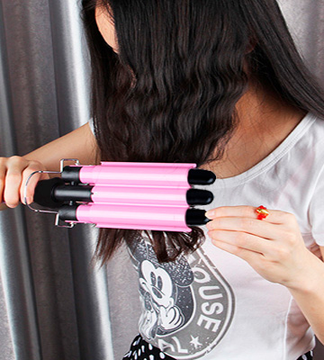 Review of PrettyQueen Dual Voltage 3 Barrel Curling Iron