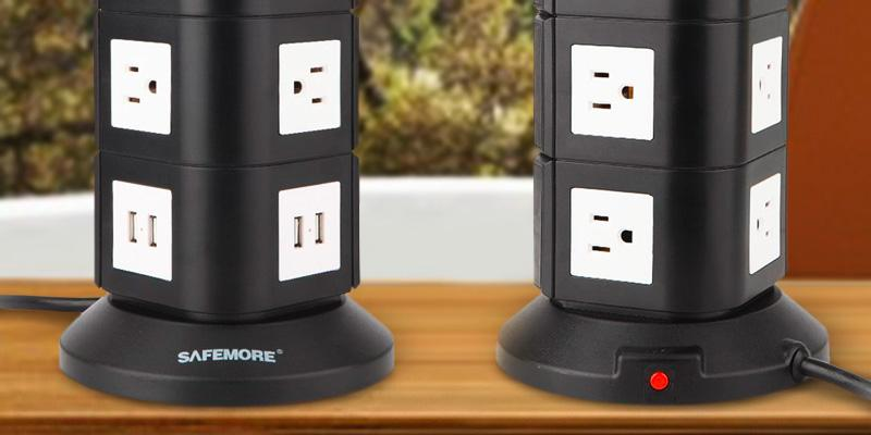 Safemore CECOMINOD067609 10-Outlet 4-USB Surge Protector in the use