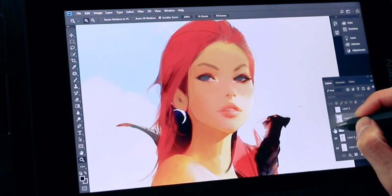 "XP-PEN Artist13.3 13.3"" IPS Drawing/Graphics Monitor in the use"