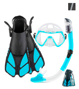 ZEEPORTE Adult Mask Fin Snorkel Set