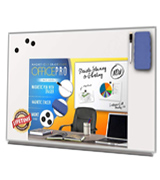 OfficePro OPDEB Ultra-Slim Magnetic Dry Erase Board 36x24 Inches