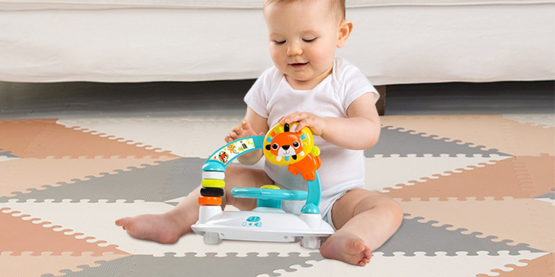 Bright Starts 60316-1-W11 Roaming Safari Walk-A-Bout Walker in the use