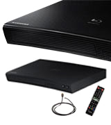 Samsung BD-J5700 Curved Blu-Ray Player (HDMI, USB, LAN, 1080p)