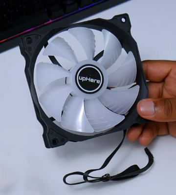 Review of upHere (C8123) 120mm RGB Case Fan (5-Pack)