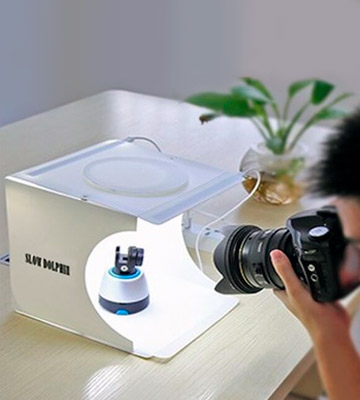 Review of Slow Dolphin 2*20 LED Lights Portable Photo Studio