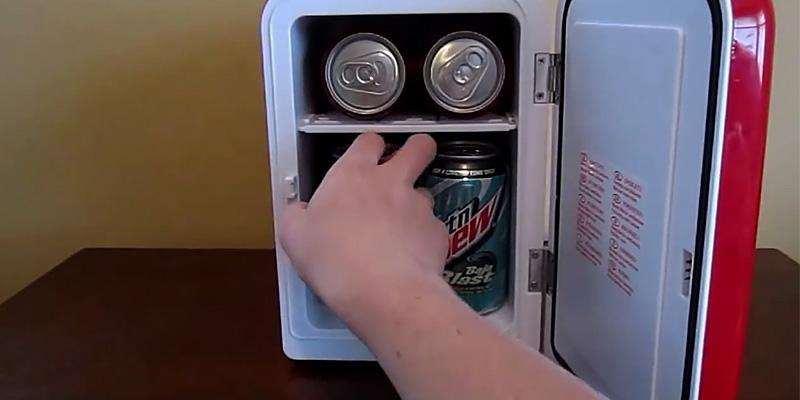 Koolatron KWC-4 Coca-Cola Personal 6-Can Mini Fridge in the use