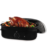 Oster CKSTRS18-BSB Roaster Oven with Self-Basting Lid