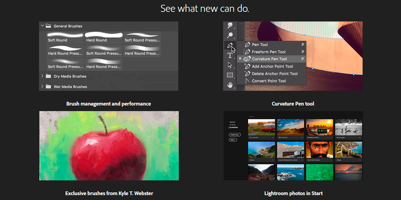 Adobe Photoshop as part of Adobe Creative Cloud in the use