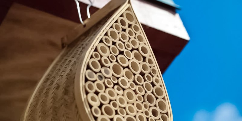 Review of Gardener's Supply Company Mason Bee House Wiker, Bamboo