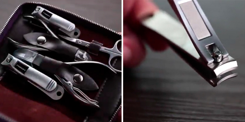 Review of FAMILIFE L01 11pcs Stainless Steel Manicure Set with Box