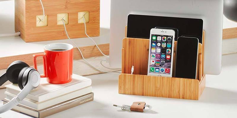 G.U.S. Multi-Device Charging Station Dock in the use