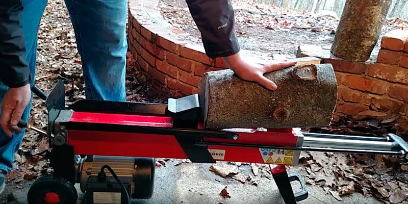 Powerhouse XM-380 Electric Hydraulic Log Splitter in the use