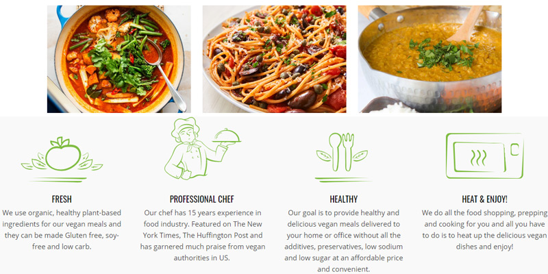 Vegin' Out Vegan Meal Delivery in the use