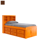 Discovery World Furniture 2120-2193 Bookcase Captains Bed