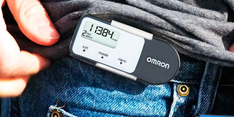 Omron HJ-321 Optimized Pedometer in the use