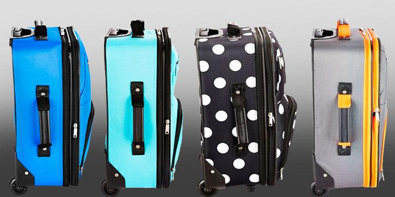 Rockland 2 Piece Luggage Set in the use