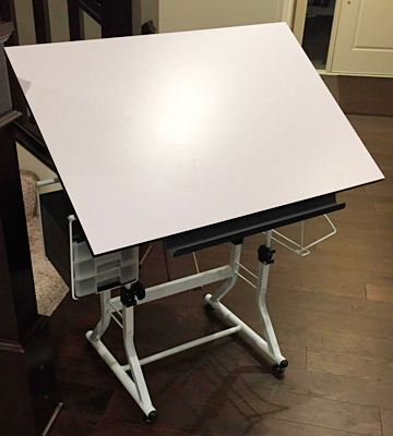 Review of Martin Ashley White Art Table with Stool