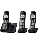 Panasonic KX-TGE433B Cordless Phone with Answering Machine