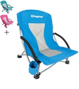 KingCamp KC3841 Beach Camping Folding Chair with Mesh Back
