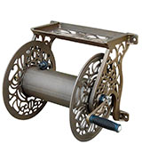 Liberty Garden Products Cast Aluminum Wall Mount Garden Hose Reel