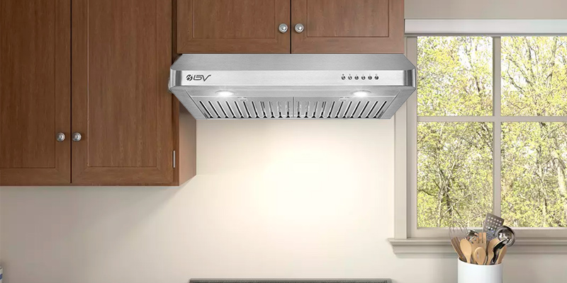 "Review of BV BV-RH-801 30"" Under Cabinet Ducted Kitchen Range Hood with LED Lights"