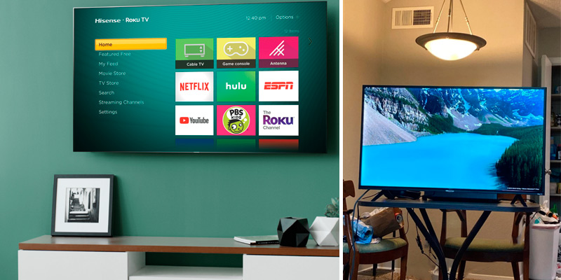 "Hisense 32H4F 32"" LED Roku Smart TV in the use"