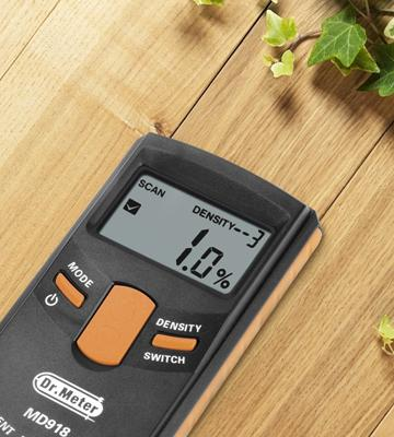 Review of Dr.Meter MD918 Upgraded Version Inductive Pinless Tools Intelligent Moisture Meter Digital Moisture Meter for Wood