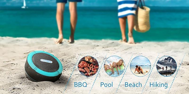 VicTsing VS1-PA57D Bluetooth Waterproof Speaker in the use