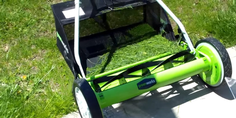 Detailed review of GreenWorks 25052 Reel Lawn Mower with Grass Catcher