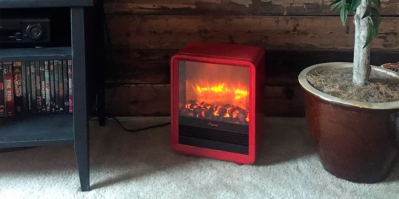 PuraFlame EF149A-R 1250W Clara Red 9 inch in the use