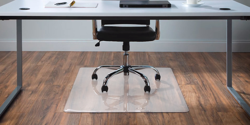 "Review of AmazonBasics 47"" x 59"" Vinyl Chair Mat Protector for Hard Floors"