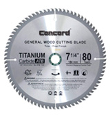 Concord WCB0725T080HP General Purpose Hard & Soft Wood Saw Blade