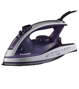 Panasonic Dry and Steam Iron with Alumite Soleplate, Fabric Temperature Dial and Safety Auto Shut Off