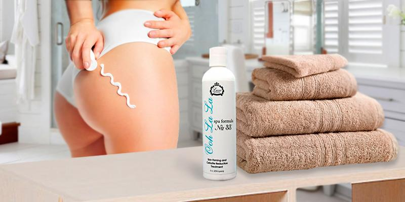 Luxe Spa Formulas Anti Cellulite Cream in the use