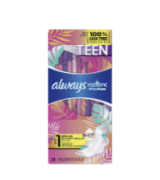 Always 28Pcs Totally Teen/Tween Radiant Infinity Sanitary Pads