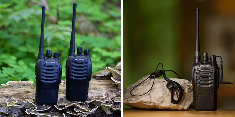 Review of Arcshell Two-Way Radios with Earpiece 4 Pack UHF 400-470Mhz Walkie Talkies