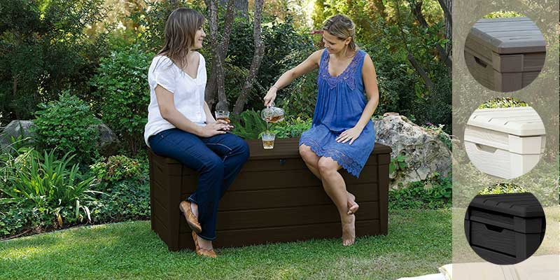 Keter Outdoor Resin Garden Patio Deck Box application
